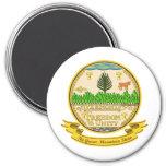 Vermont Seal 7.5 Cm Round Magnet