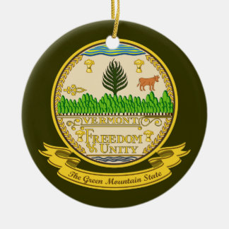 Vermont Seal Christmas Ornament