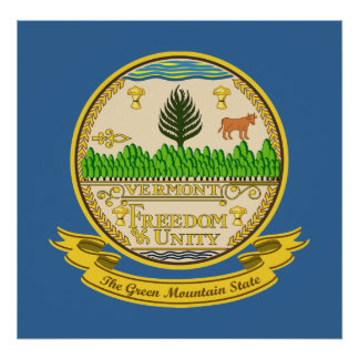 Vermont Seal Poster