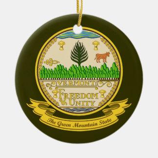 Vermont Seal Round Ceramic Decoration