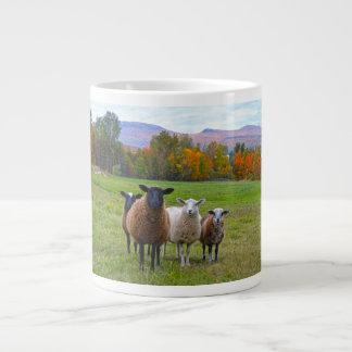 Vermont Sheep in Autumn Large Coffee Mug