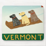 Vermont Sled Dogs Mousepad - Stephen Huneck