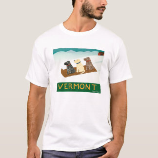 Vermont Sled dogs-Tee- Stephen Huneck T-Shirt