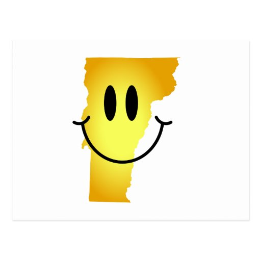 Vermont Smiley Face Post Card
