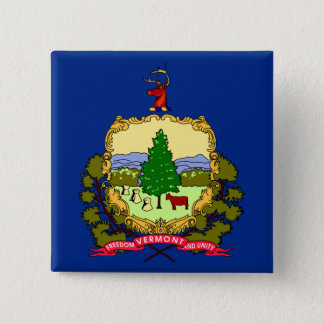 Vermont State Flag 15 Cm Square Badge