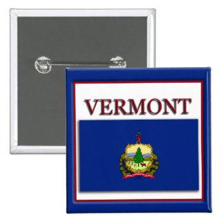 Vermont State Flag Design Button