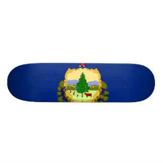 Vermont State Flag 18.1 Cm Old School Skateboard Deck