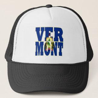 Vermont state  flag text trucker hat