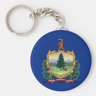 vermont state flag united america republic symbol key ring