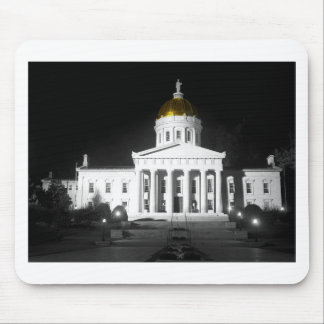 Vermont State House At Night Mousepad