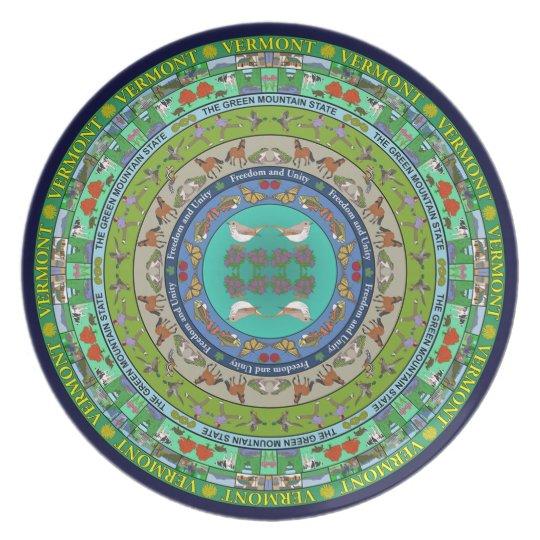 Vermont State Mandala Plate