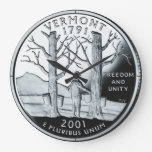 Vermont State Quarter Clock