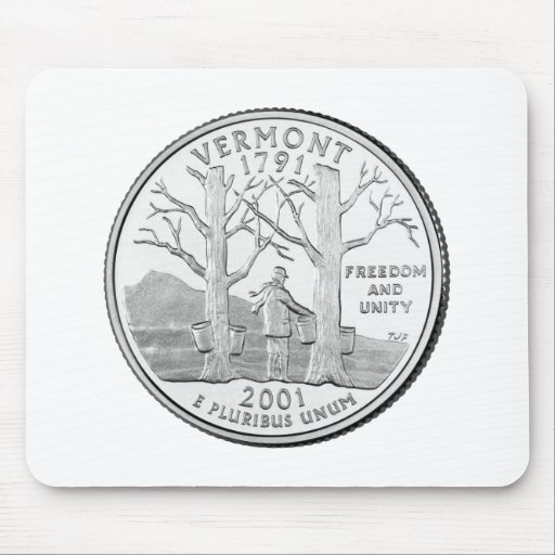 Vermont State Quarter Mouse Pad