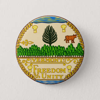 Vermont State Seal 6 Cm Round Badge
