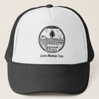 Vermont State Seal and Motto Trucker Hat