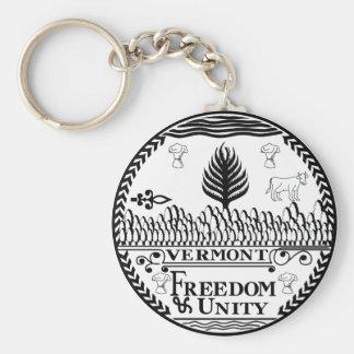 Vermont State Seal Keychain