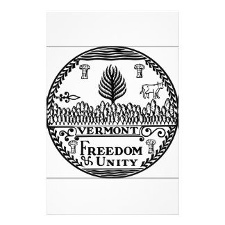 Vermont State Seal Stationery Design