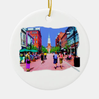 Vermont Street Painting Christmas Ornament