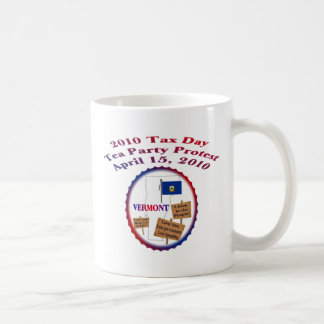 Vermont Tax Day Tea Party Protest Coffee Mugs