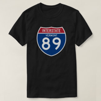 Vermont VT I-89 Interstate Highway Shield - T-Shirt