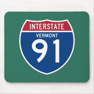 Vermont VT I-91 Interstate Highway Shield - Mouse Pad
