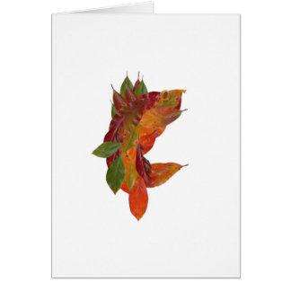 Vermont Walleye - Autumn Leaf Collage Note Card