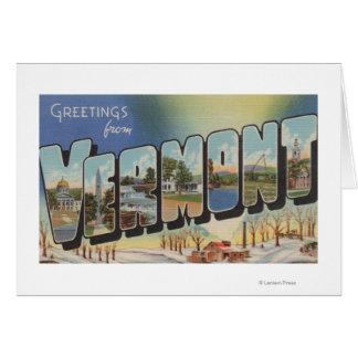 Vermont (Winter Scene) - Large Letter Scenes Card