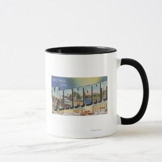 Vermont (Winter Scene) - Large Letter Scenes Mug