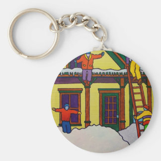 Vermont Winter Sport by Piliero Basic Round Button Key Ring