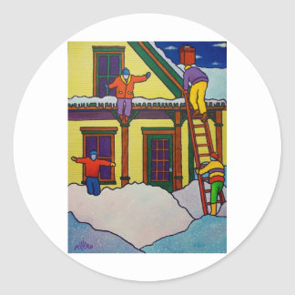 Vermont Winter Sport by Piliero Classic Round Sticker