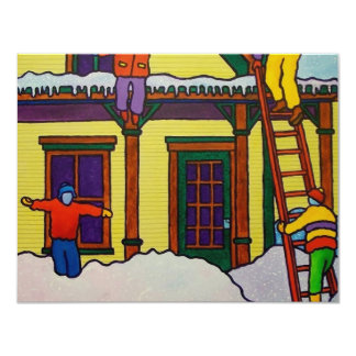 "Vermont Winter Sport by Piliero 4.25"" X 5.5"" Invitation Card"