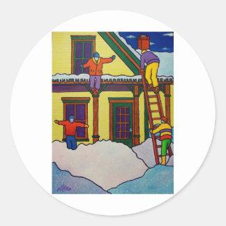 Vermont Winter Sport by Piliero Round Sticker