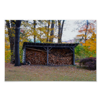 Vermont Wood Shed Poster
