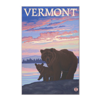 VermontBear and Cub Canvas Print