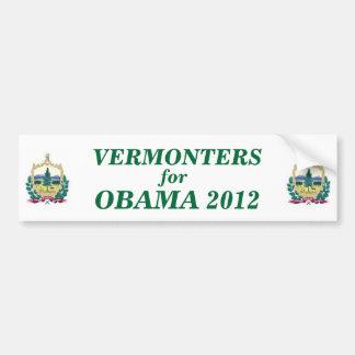 Vermonters for Obama 2012 sticker Bumper Sticker