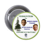 Vermonters for Obama and Shumlin in 2012 political 6 Cm Round Badge