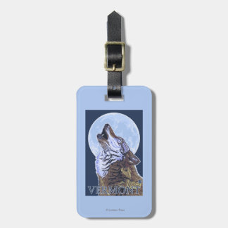 VermontHowling Wolf Luggage Tag