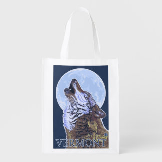 VermontHowling Wolf Reusable Grocery Bag