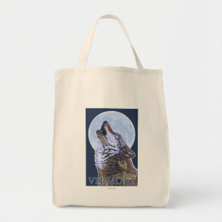 VermontHowling Wolf Tote Bag