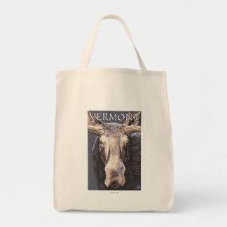 VermontMoose Up Close Tote Bag