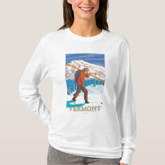 VermontSkier Carrying Skis T-Shirt