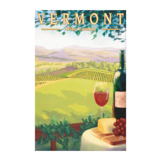 VermontWine Country Scene Canvas Print