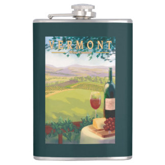 VermontWine Country Scene Hip Flask