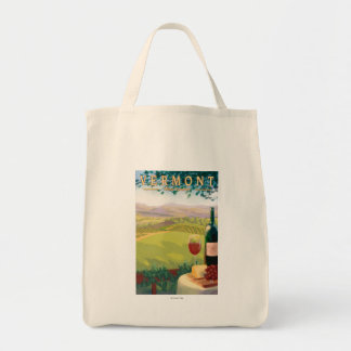 VermontWine Country Scene Tote Bag