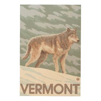 VermontWolf Scene Wood Print