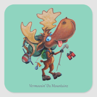 Vermoosin' Da Mountainz Square Sticker