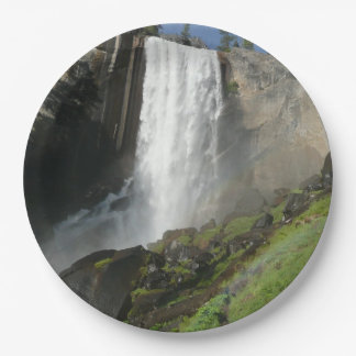 Vernal Falls I in Yosemite National Park 9 Inch Paper Plate