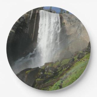 Vernal Falls I in Yosemite National Park Paper Plate
