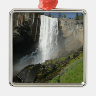 Vernal Falls I in Yosemite National Park Silver-Colored Square Decoration