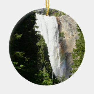 Vernal Falls II in Yosemite National Park Round Ceramic Decoration